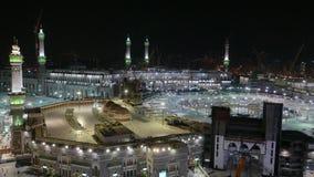 Hoogste mening van Masjidil Haram die nog gedeeltelijk in aanbouw in Mekka is stock footage