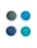 Hoogste mening van minerale oogschaduwwen in pastelkleuren Royalty-vrije Stock Afbeeldingen