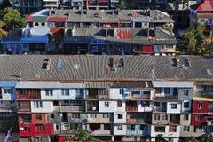 Hoogste mening van moderne huizen in Batumi Royalty-vrije Stock Fotografie