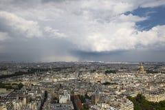 Hoogste mening van mooi Parijs royalty-vrije stock foto's
