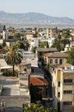 Hoogste mening van oude stad van Nicosia. Stock Afbeelding