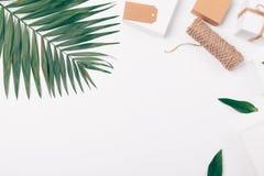 Hoogste mening van palmblad, giften en streng royalty-vrije stock afbeeldingen