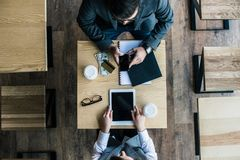 hoogste mening van partners het coworking stock afbeelding