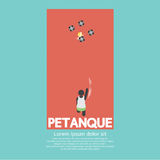 Hoogste Mening van Petanque-het Spelen stock illustratie
