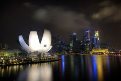 Hoogste mening van Singapore vliegerlandschap Stock Afbeeldingen