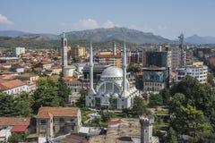 Hoogste mening van Skoder-stad, Albanië stock foto's