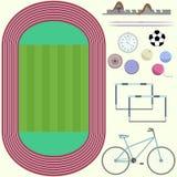 Hoogste mening van stadion Stock Afbeeldingen