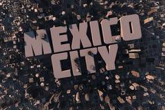 Hoogste mening van stedelijke stad in 3D Stock Fotografie