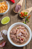 Hoogste mening van Thais kruidig voedsel met garnalendeeg Stock Foto's