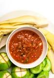 Hoogste mening van Thaise voedsel kruidige saus met groente Royalty-vrije Stock Foto's