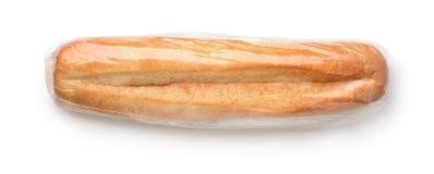 Hoogste mening van vers broodje in plastic zak stock afbeeldingen