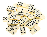 Hoogste mening van verspreide domino's Royalty-vrije Stock Foto's