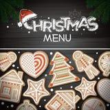 Hoogste mening van Vrolijk Kerstmisconceptontwerp Vakantiekoekjes vector illustratie