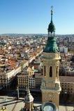 Hoogste mening van Zaragoza Royalty-vrije Stock Foto's