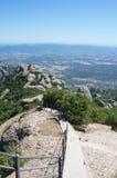 Hoogste mening vanuit het hoogste gezichtspunt van de Montserrat bergen Stock Afbeeldingen
