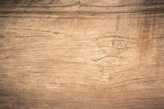 Hoogste menings bruin hout die met barst, Oude grunge donkere geweven houten achtergrond, de oppervlakte met panelen bekleden van royalty-vrije stock foto