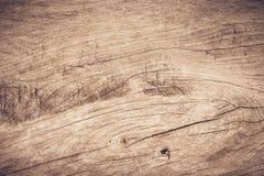 Hoogste menings bruin hout met barst, Oude grunge donkere geweven houten achtergrond, de oppervlakte van de oude bruine houten te stock afbeelding