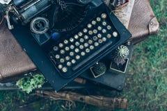 Hoogste menings uitstekende schrijfmachine royalty-vrije stock foto