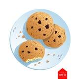Hoogste meningsillustratie van koekjes Stock Afbeeldingen