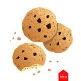 Hoogste meningsillustratie van koekjes Stock Fotografie