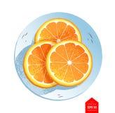 Hoogste meningsillustratie van plakken van sinaasappel Royalty-vrije Stock Fotografie