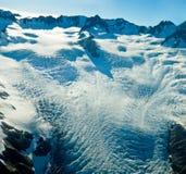 Hoogste niveau van de Gletsjer van de Vos in Nieuw Zeeland Stock Foto's