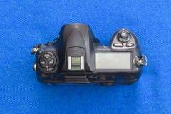 Hoogste paneel van oud DSLR-cameralichaam Stock Afbeeldingen