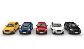 Hoogste Perspectief SUVs royalty-vrije stock fotografie