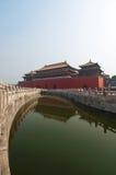 Hoogste Poort, Verboden Stad, Peking stock fotografie