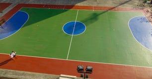Hoogste satellietbeeld van geopend stadion royalty-vrije stock afbeelding