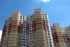 Hoogste sectie van modern flatgebouw Royalty-vrije Stock Foto