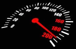 Hoogste snelheid op wijzerplaat Stock Foto's