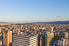 Hoogste Stadsmening in Fukuoka Stock Foto