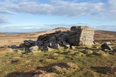Hoogste Tor Dartmoor Royalty-vrije Stock Afbeeldingen