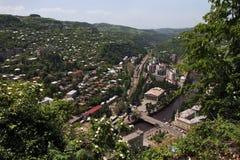 Hoogste Weergeven van de stad van Chiatura royalty-vrije stock foto