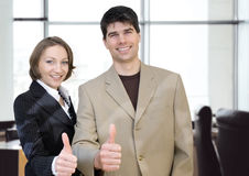 Hoogste zaken-zaken bureau royalty-vrije stock fotografie