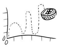 Hoogte aan Lage grafische lijst vector illustratie