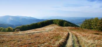 Hoogte in de bergen in openlucht Royalty-vrije Stock Fotografie