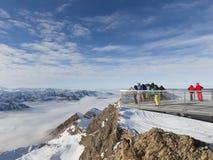 Hoogte van 3000 m in de Alpen Royalty-vrije Stock Fotografie