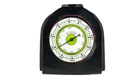 Hoogtemeter en barometer voor wandeling op witte achtergrond Royalty-vrije Stock Afbeeldingen