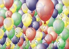 Hoogtepunt van ballons Royalty-vrije Stock Foto's