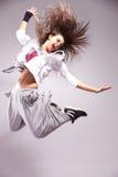 Hoogtepunt van de danser van de energievrouw stock foto's