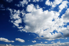 Hoogtepunt van wolkenhemel Royalty-vrije Stock Foto