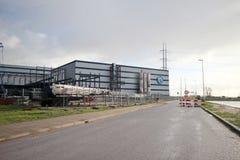 Hoogvliet的新的分配中心的大厦在Bleiswijk 免版税库存照片