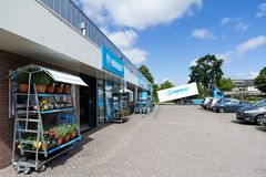 Hoogvliet supermarket in Sassenheim, Netherlands. Hoogvliet is a Dutch retail company and a member of Superunie, a Dutch purchasing organization for supermarkets Stock Images