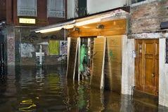 Hoogwater 03 van Venetië Stock Foto's