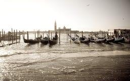 Hoogwater, Venetië Royalty-vrije Stock Foto's