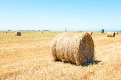 Hooibalen in het platteland Portugal Stock Foto's