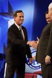 Hooimijt Santorum bij GOP Debat 2012 Royalty-vrije Stock Foto's