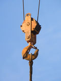 Hook  building  elevating   crane Stock Photo